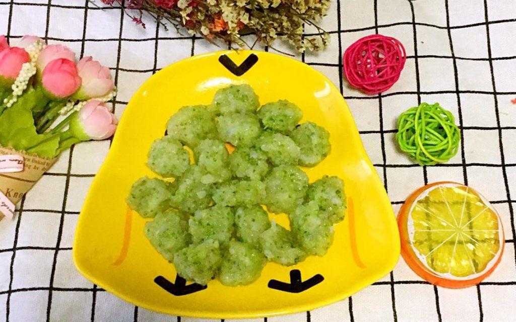 板栗育儿营养月子餐-翡翠虾球