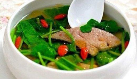 营养月子餐 菠菜猪肝汤 产后第一天饮食推荐 科学搭配营养美味 板栗育儿月子餐