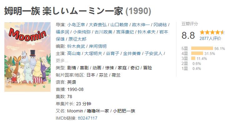 板栗育儿-日本1990年姆明动画片